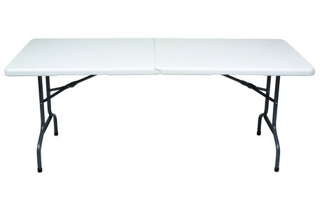 Gsc 6 Ft White Centerfolding Table Walmart Canada Folding