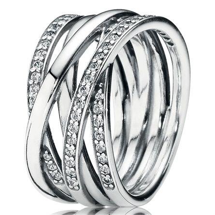 anello acciaio donna pandora