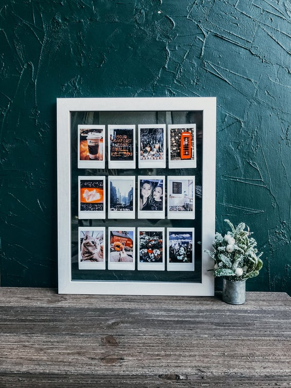 Custom Instax Mini Photo Display White Instax Gallery Frame Etsy In 2020 Wall Collage Picture Display Gallery Frame