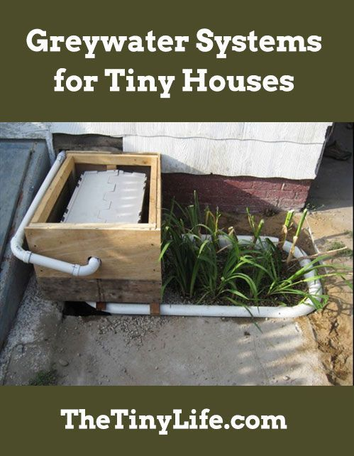 What Should You Do With The Greywater You Produce In Your Tiny House