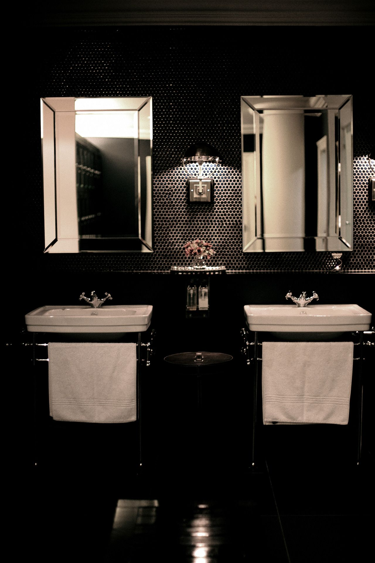 Black Tiled Bathroom Equinox Spa Black Tiled Bathroom Gym Design Black