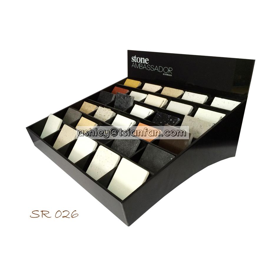 Desktop Acrylic Display Box/quartz Stone Sample Display Racks ...