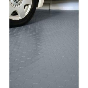 G Floor Coin 10 Ft X 24 Ft Slate Grey Commercial Grade Vinyl Garage Flooring Cover And Protector Gf75cn1024sg The Home Depot Garage Floor Vinyl Floor Cleaners G Floor
