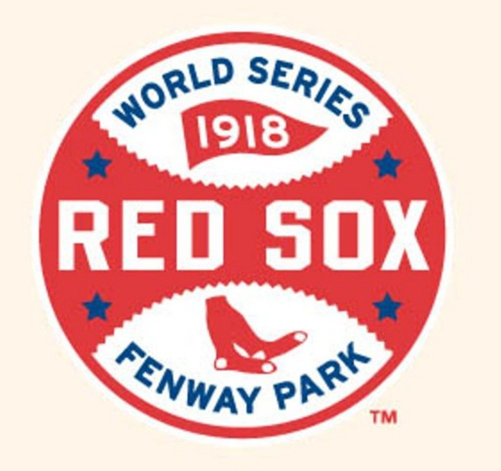 Mlb World Series Logo Patches 1918 Red Sox Red Sox Boston Red Sox Mlb World Series