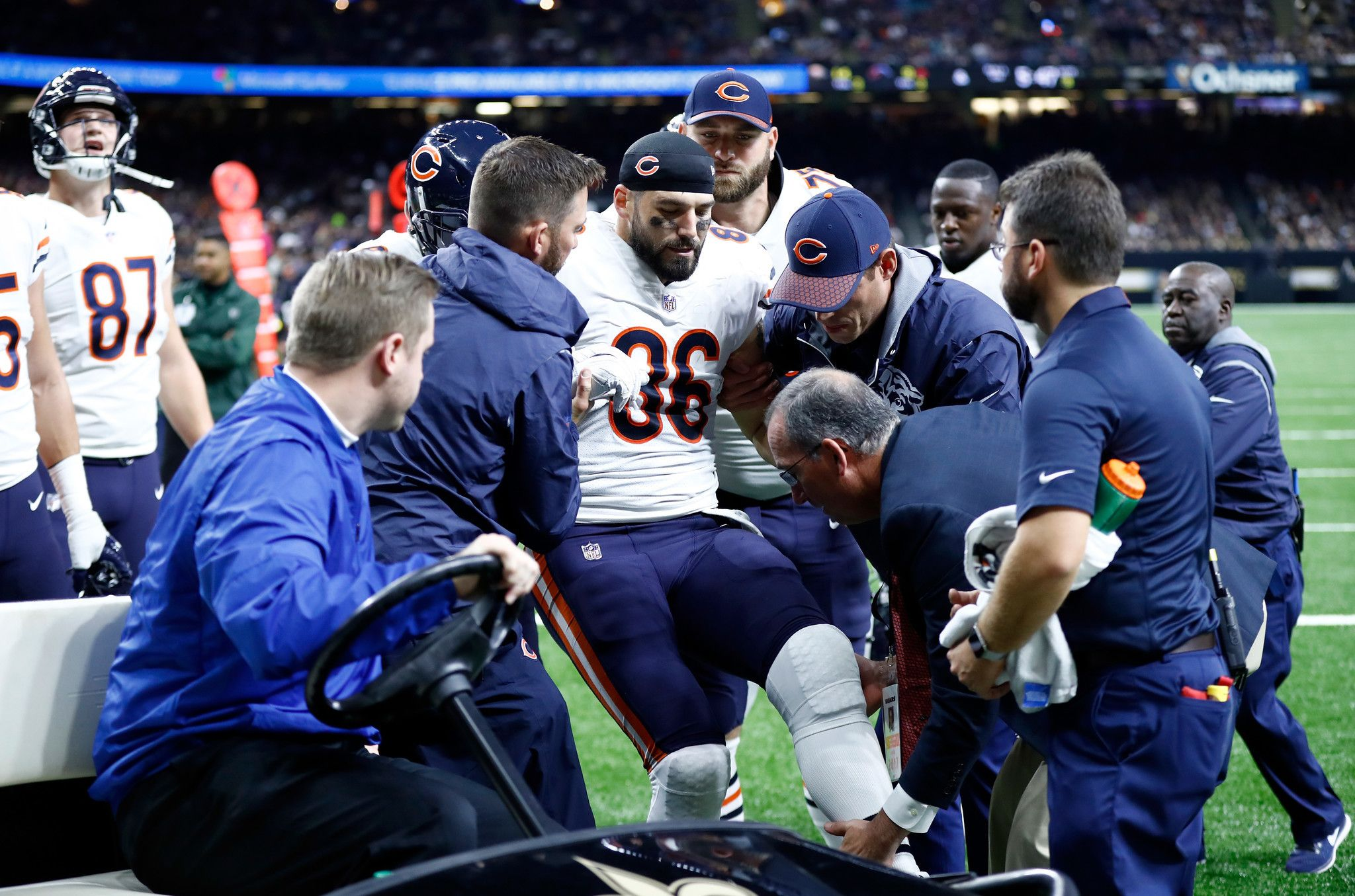 Zach Miller S Injury Won T Diminish His Huge Impact On The Bears Knee Injury Football Injury Leg Injury