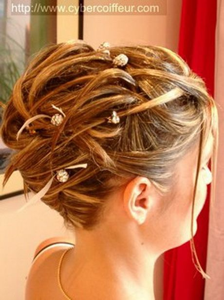Coiffure Cheveux Mi Long Chignon Deco Mariage Champetre