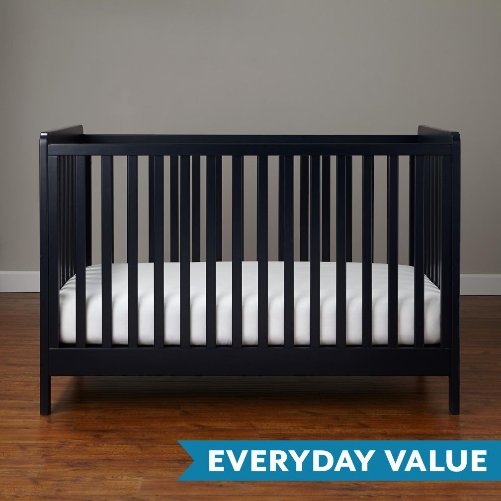 shop modern wooden carousel baby crib navy our carousel crib