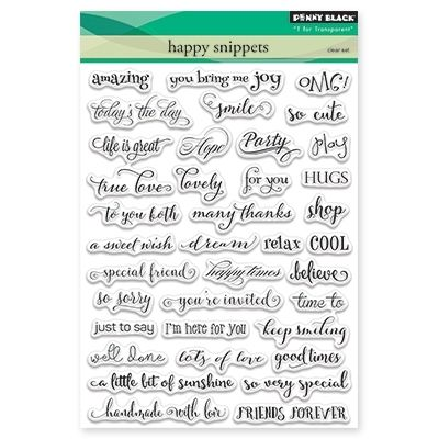 Penny Black Cling Rubber Stamp Sheet 4 by 6-Inch Wishing You Well