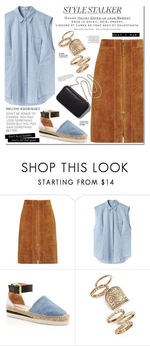 """""""PaGe 14/16"""" by lali22 ❤ liked on Polyvore featuring Reiss, Acne Studios, See by Chloé, Style Stalker, Topshop and Clare V."""
