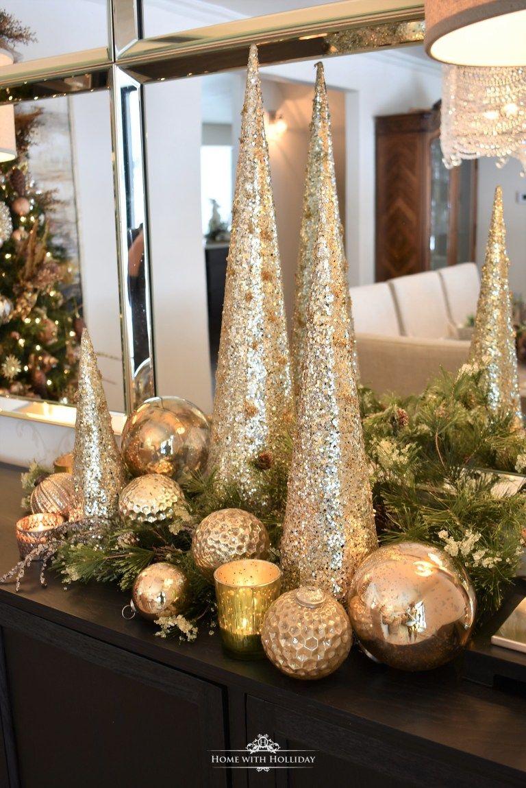silver christmas centerpieces
