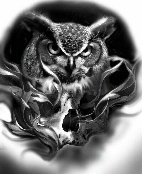 Фотография | Татуировка сова, Сова тату, Сова тату рисунки