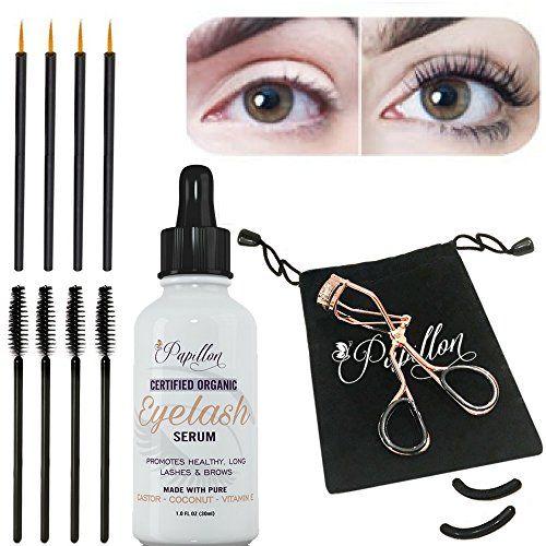 69a2ebf2c8a Papillon Organic Eyelash Growth Serum with Castor, Coconut  #LashEnhancersPrimers