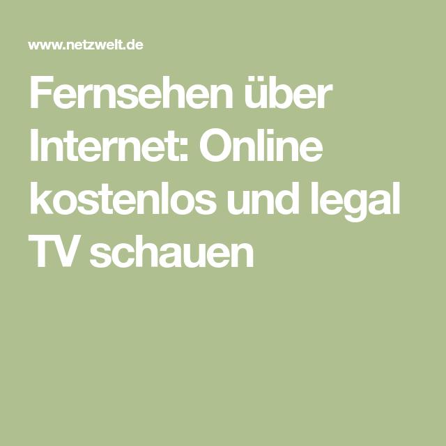 über Internet Tv Schauen
