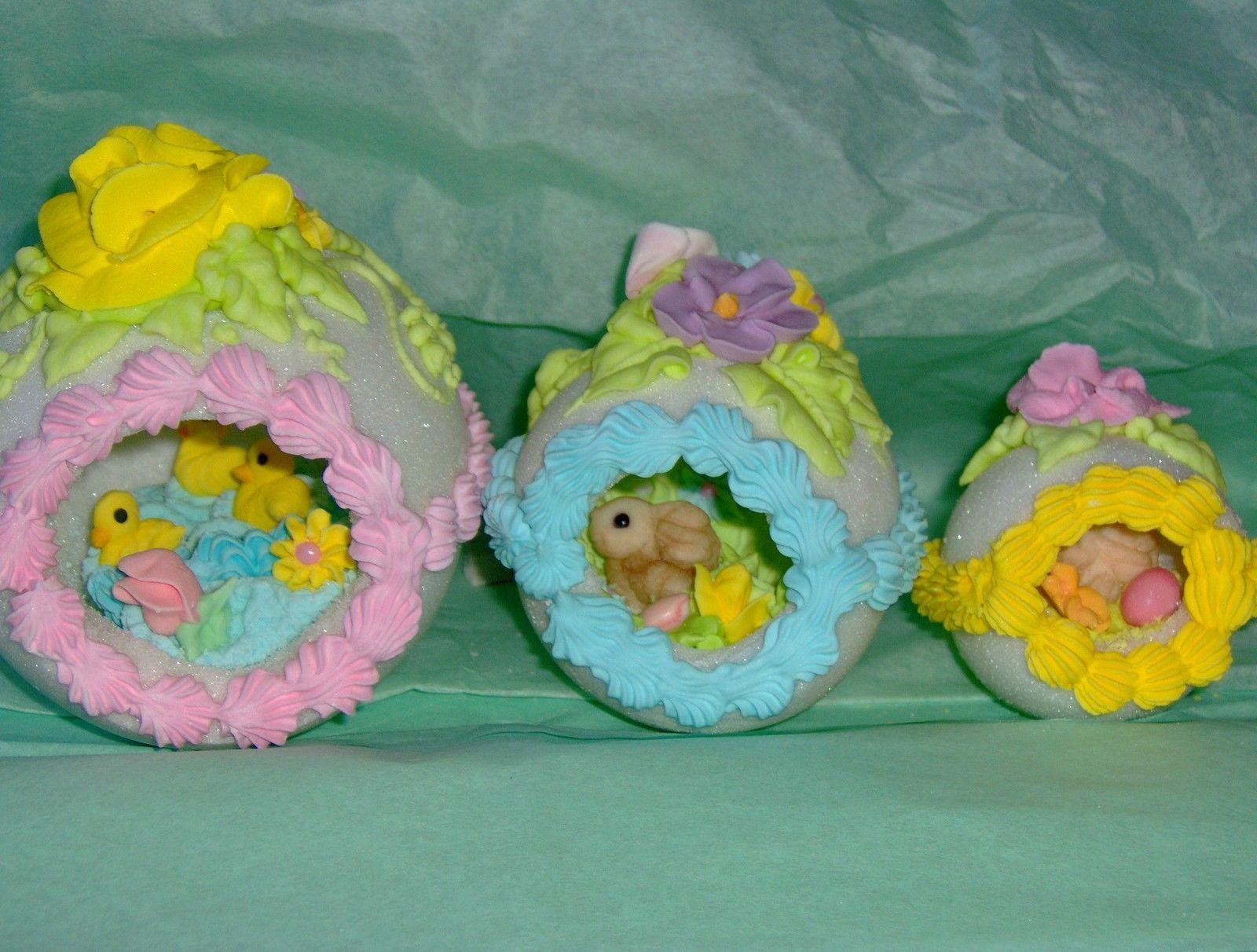 Med Size Decorative Sugar Easter Egg Enchanting Sugar Scene Inside So Pretty   eBay
