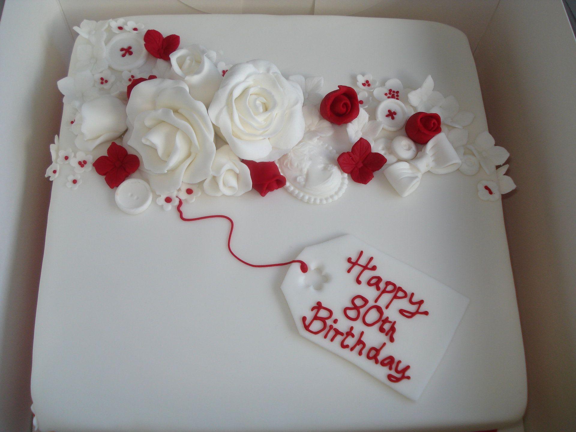 Cake Decorating 80th Birthday Ideas : Happy 80th Birthday Cake Cake ideas  Pinterest 80th ...