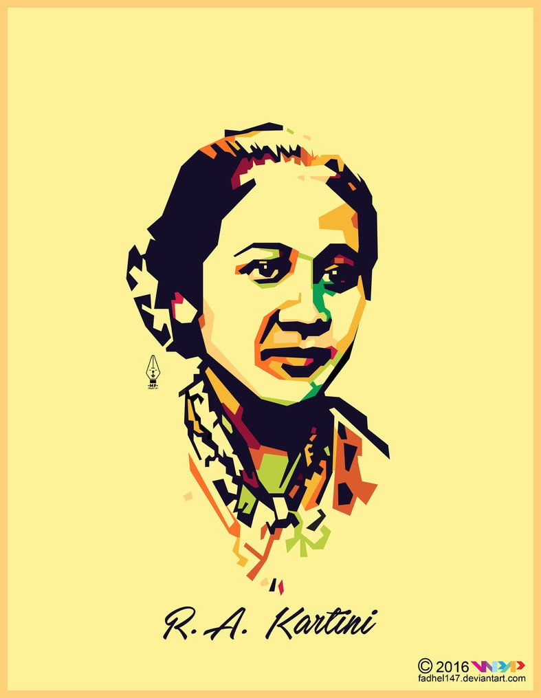 Ra Kartini Vector : kartini, vector, Raden, Ajeng, Kartini, Fadhel147, Wpap,, Chinese, Background,, Retro, Poster