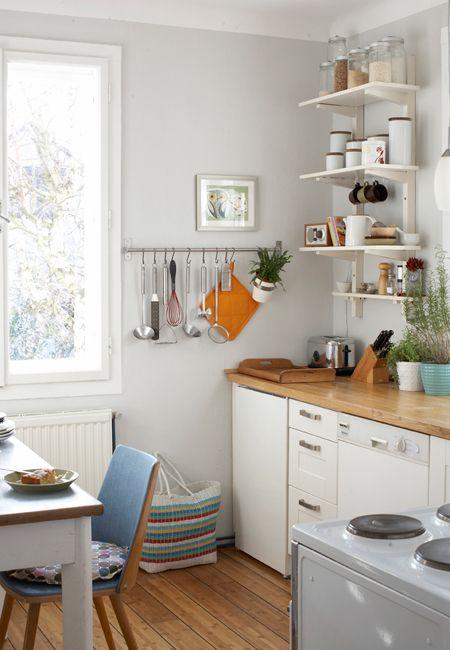 Weiß und hellgrau kitchen Pinterest Küche, Leere wand und Wohnen - ikea kleine k chen