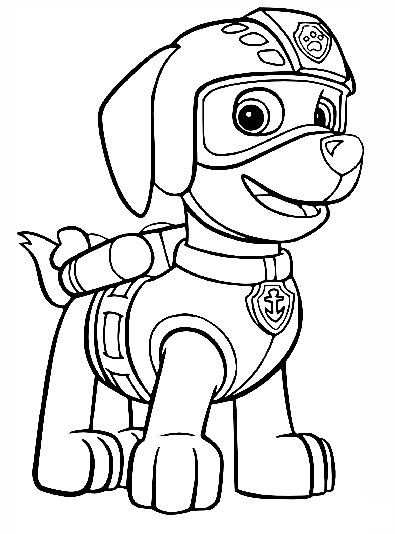 Zumas air rescue uniform coloring page | Coloring For Kids | Pinterest