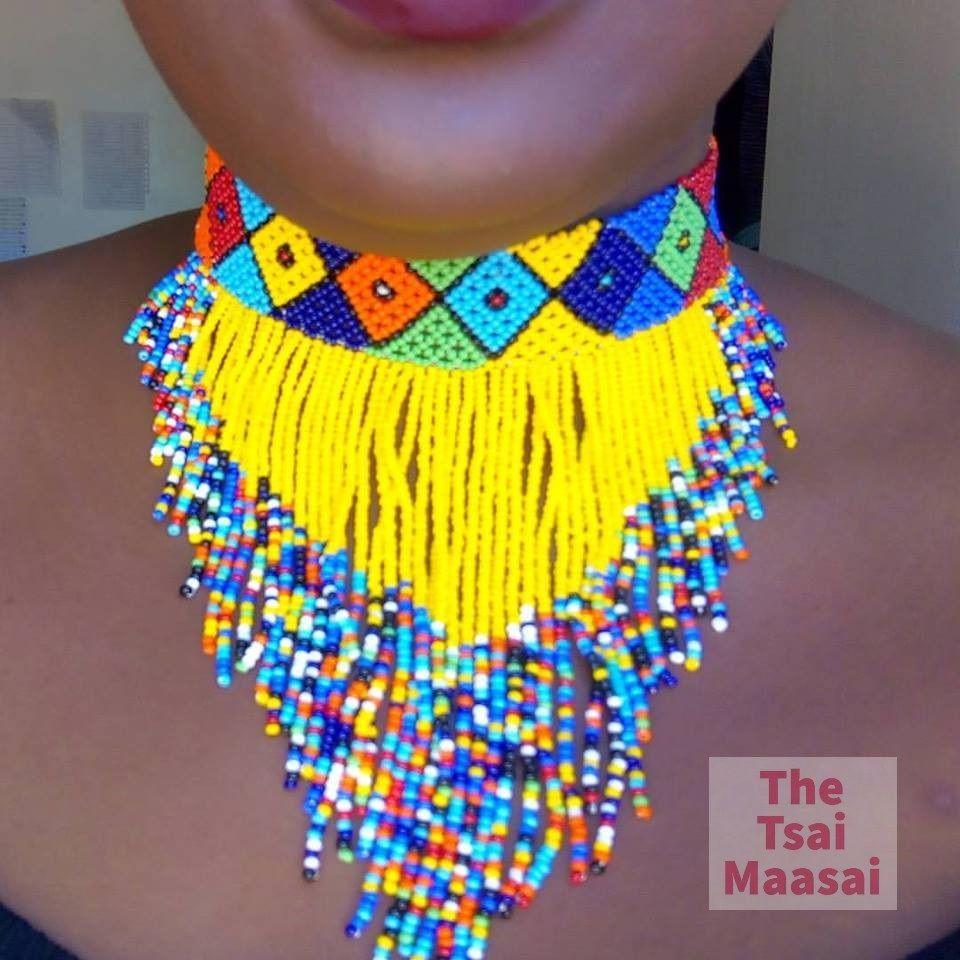 Kenya Handmade Massai Beaded Necklace