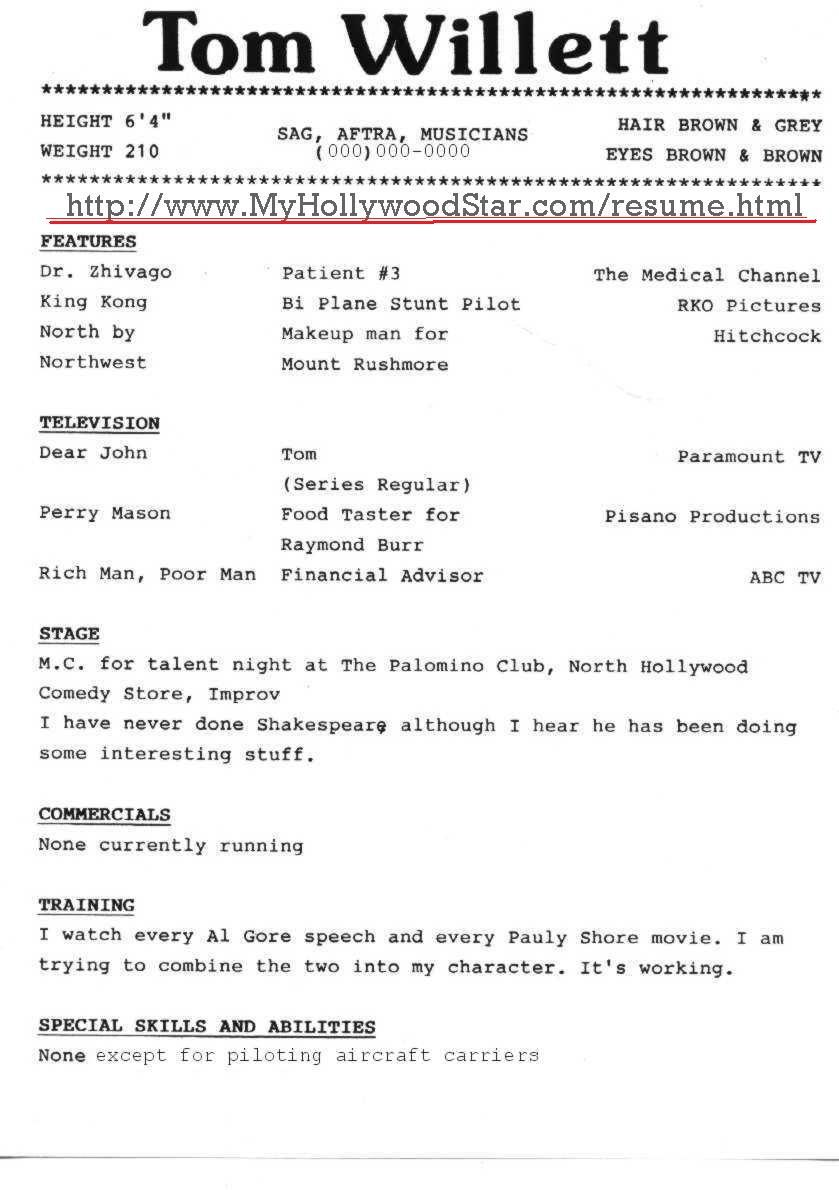 Resume Make An Acting Resume the best resumes examples resume download format sample for professional acting httpwwwresumecareerinfo
