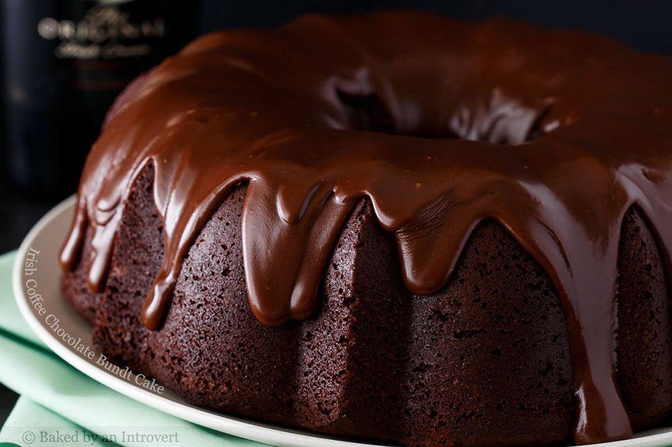 Irish Coffee Chocolate Bundt Cake
