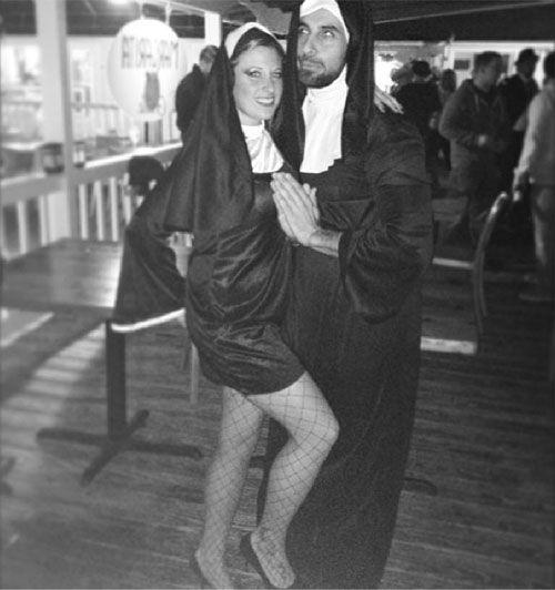 55 Halloween Costume Ideas for Couples Nun halloween costume