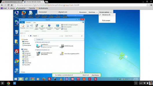 Chrome Remote Desktop allows connecting to Windows, Mac, and