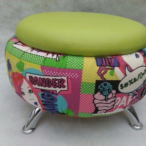 Puff con neumatico reciclado reciclaje pinterest - Reciclar muebles usados ...