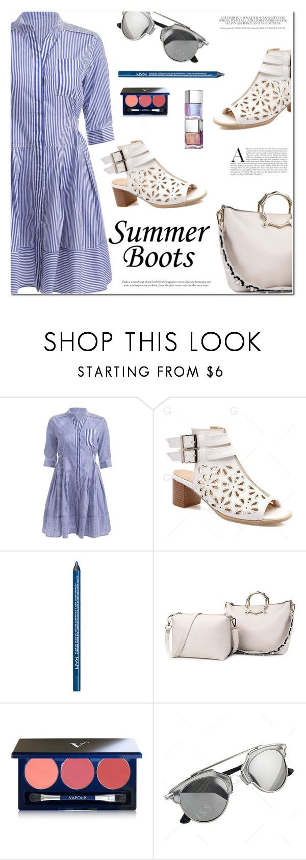 """Summer Booties"" by fshionme ❤ liked on Polyvore featuring NYX, Vapour and summerbooties"