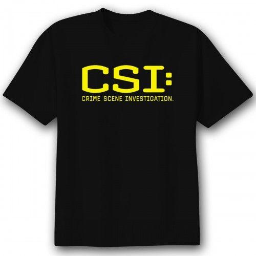 CSI TV Show CBS Logo Women/'s T-Shirt Tee