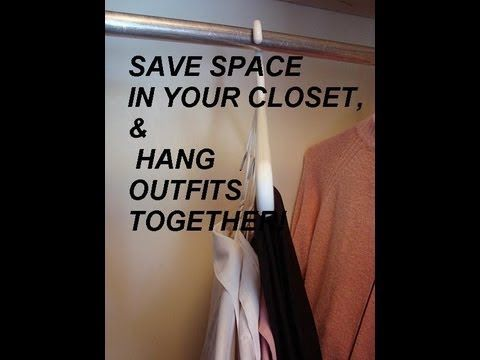Clothes Hanger Double Duty Quick Tips Save Room In Your Closet