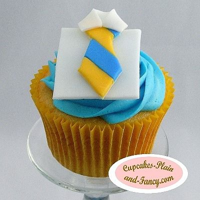 Blue and Yellow Father's Day Tie Cupcake « The Cupcake Blog