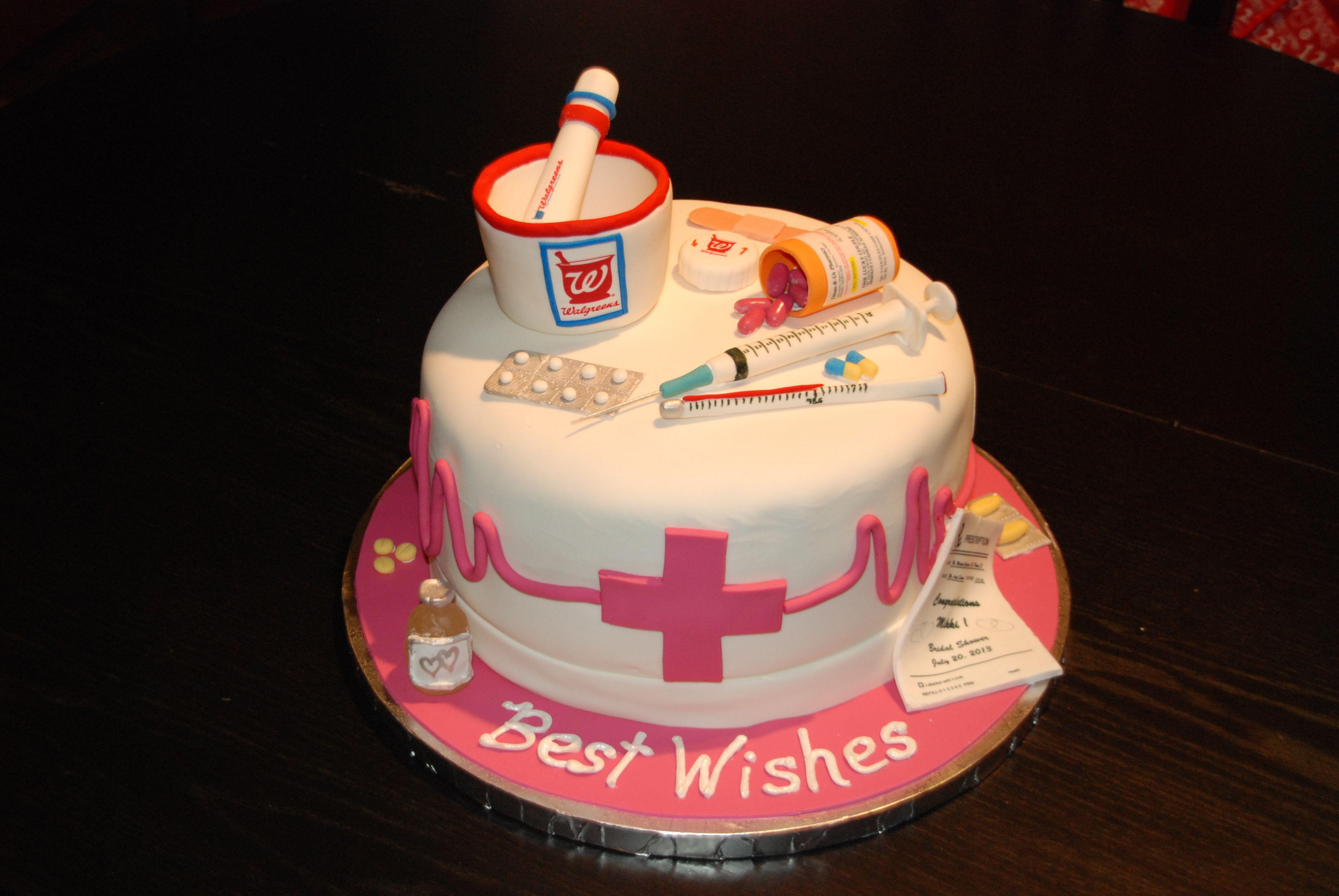 Nurse/pharmacist Cake Graduation cakes, Pharmacy cake