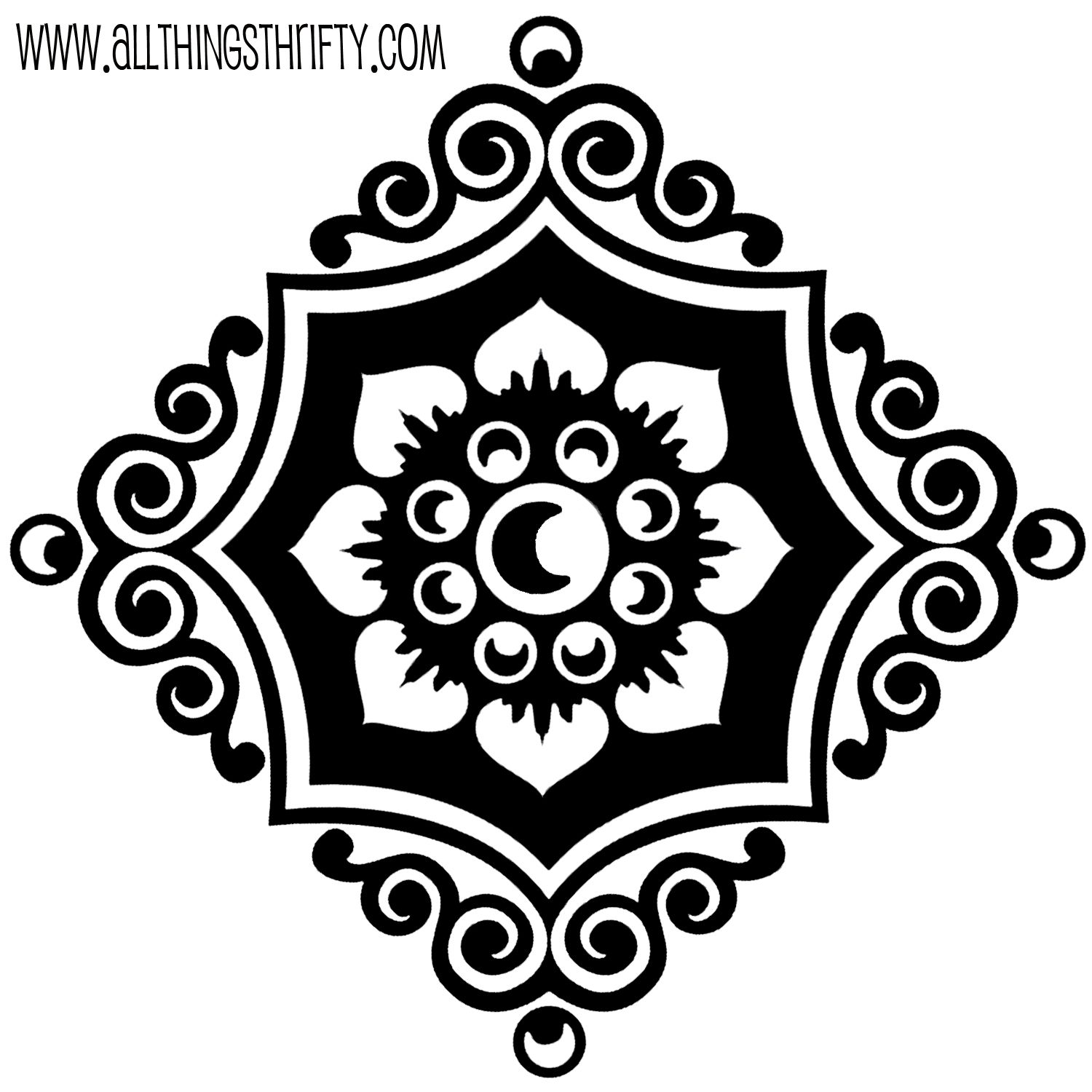 Wall painting stencils printables - Stencil 2