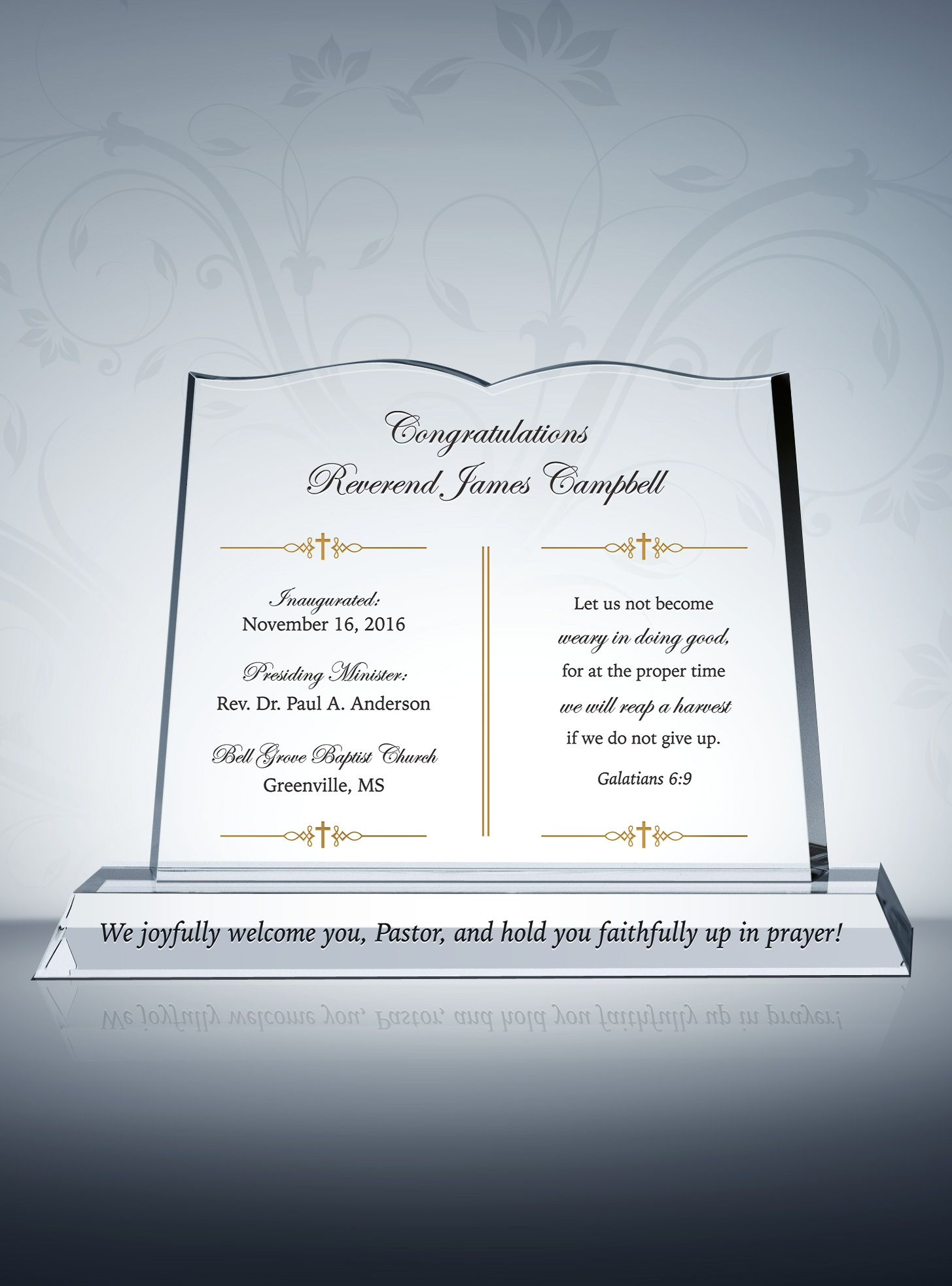 bible pastor installation gift