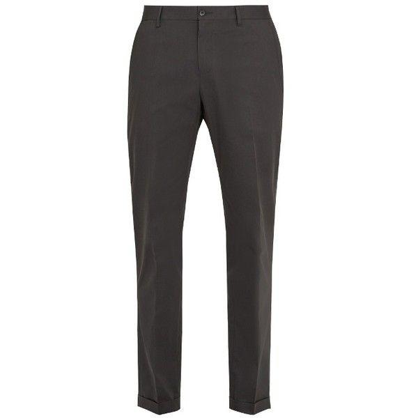 Slim-fit Tapered Stretch-cotton Drawstring Trousers Dolce & Gabbana EIorr2qc