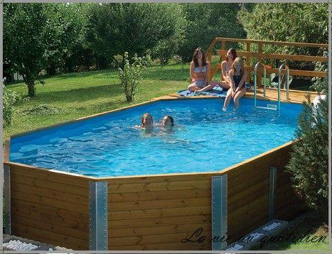 piscines hors sol design bois acier plastique grand mod le pas cher piscine bois piscines