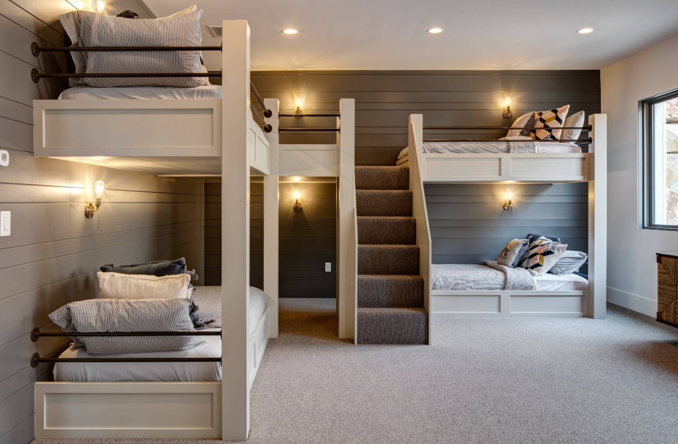 How To Make The Most Of A Shiplap Accent Wall Bunk Beds With