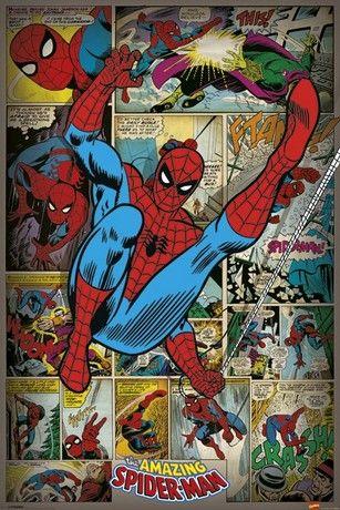 MARVEL COMICS - spider man ret posters   art prints