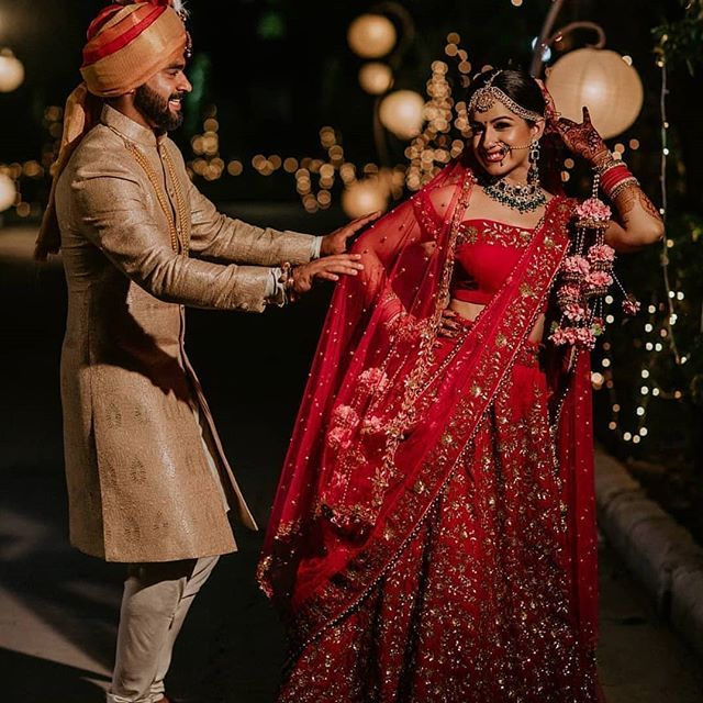 Indian Wedding Photography Ideas: Image May Contain: 2 People, People Standing