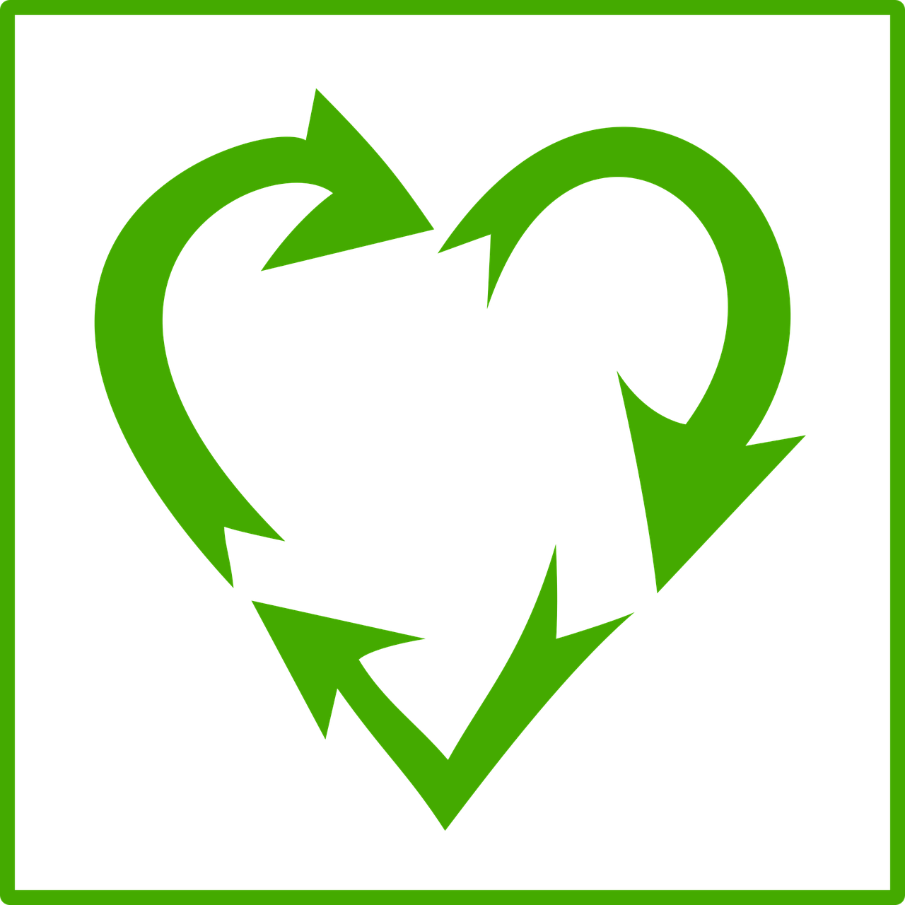 Free Image on Pixabay Environment, Green, Heart, Recycle
