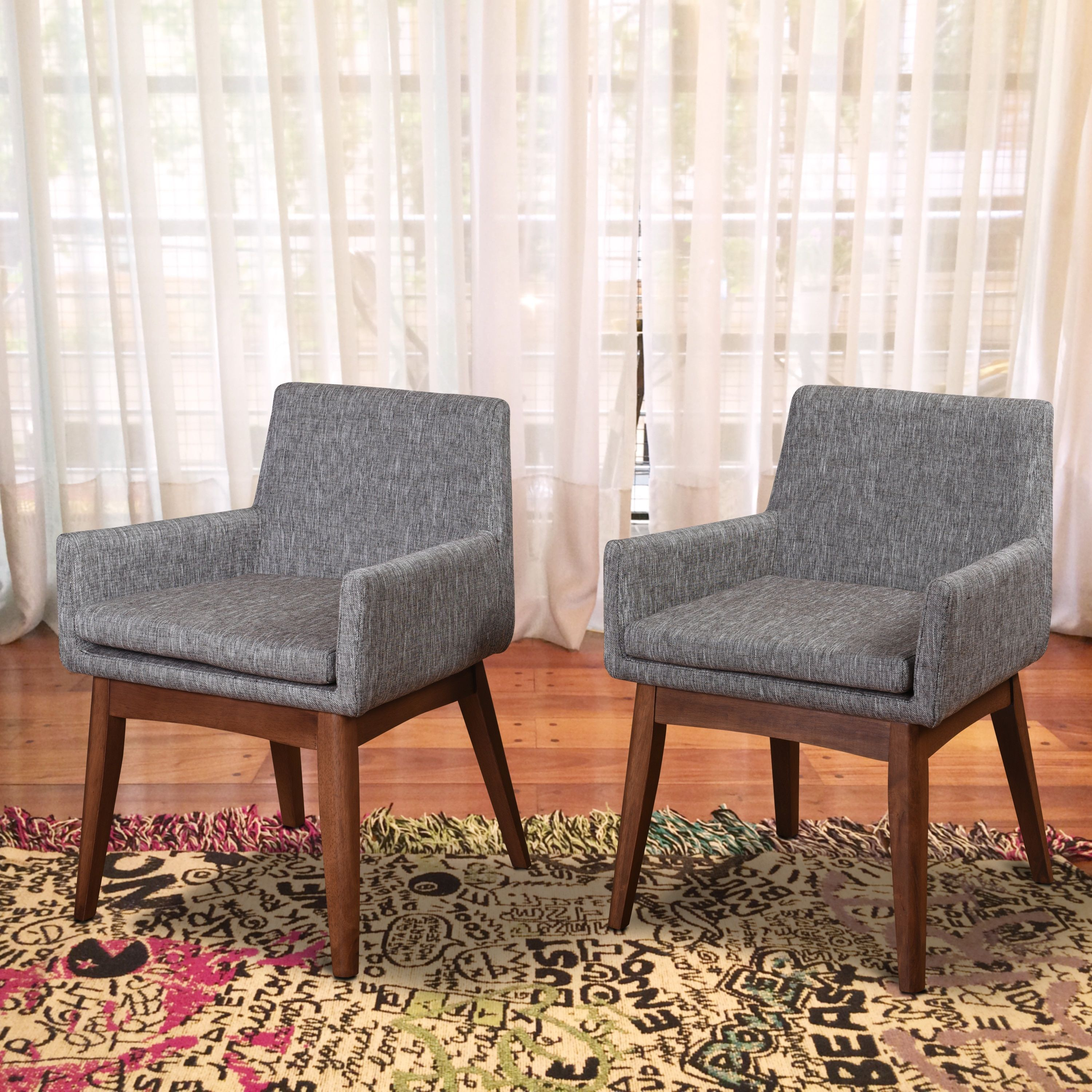 Pleasant Ruby Mid Century 2 Piece Living Room Dining Armchair Set Forskolin Free Trial Chair Design Images Forskolin Free Trialorg