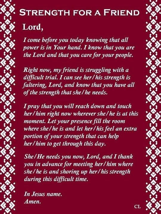 strength for a friend prayer quotes prayer quotes