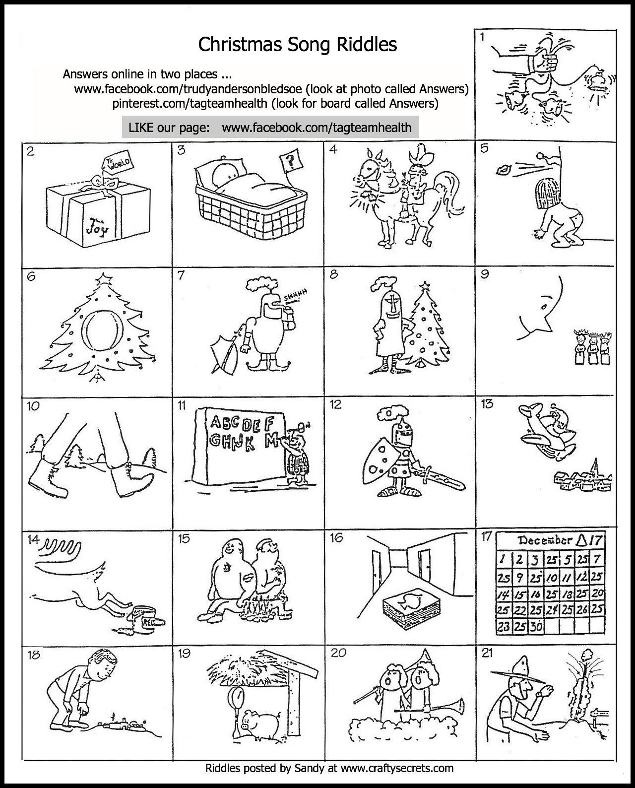 Uncategorized Riddles On Christmas fun christmas song riddles kindergarten riddles