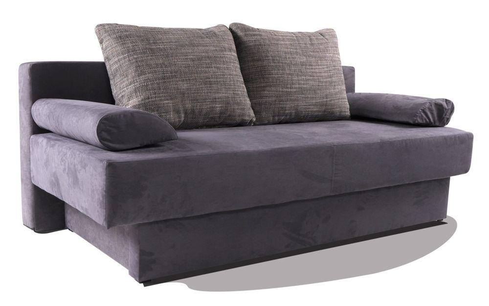 LION Schlafsofa Wildleder-Optik grau #sofa #wohnzimmer #relax - wohnzimmer grau sofa