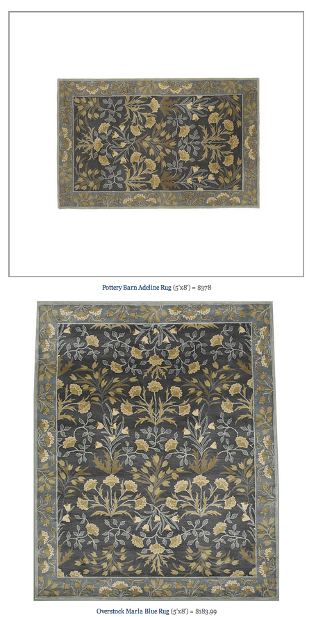 Copy Cat Chic Find Pottery Barn Adeline Rug Vs Overstock
