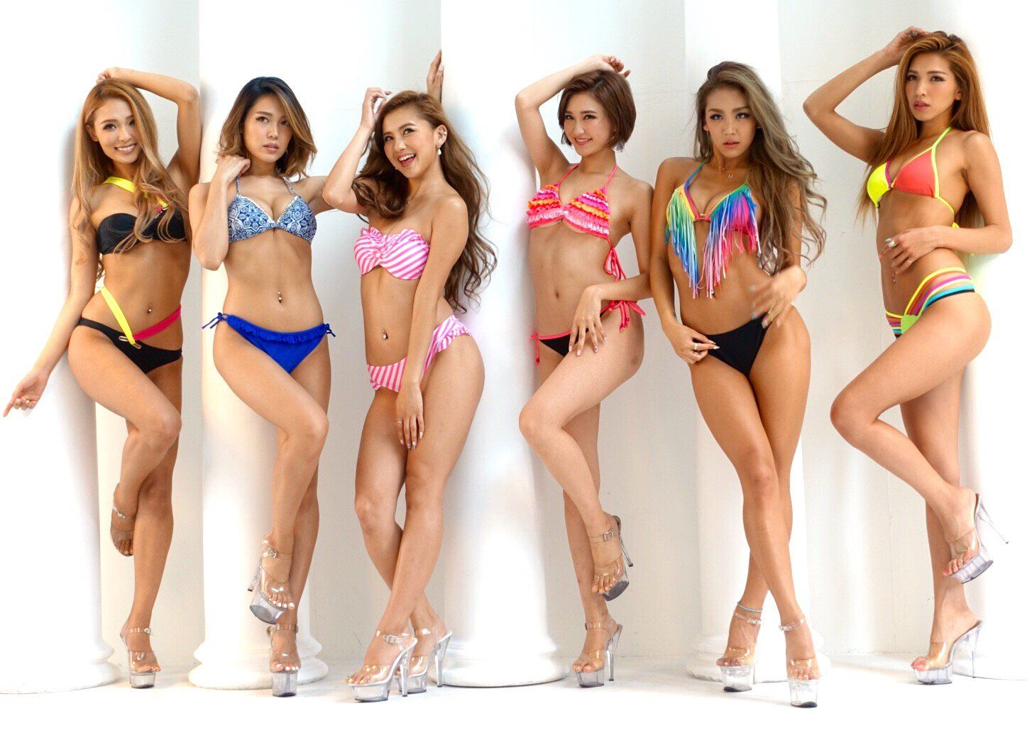 Babes bikini russian dancers brides