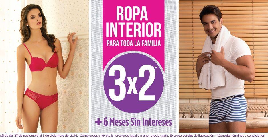 Tiendas suburbia nuevamente tienen la promoci n de 3x2 en for Ofertas de ropa interior