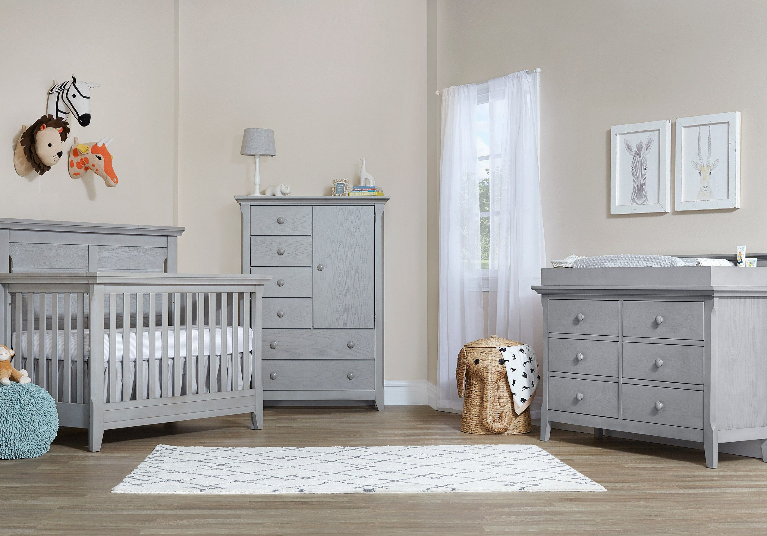 Baby Cache Overland Point Gray 4 Pc Nursery Bedroom Furniture Stores Baby Boy Nursery Bedding Nursery Furniture Sets
