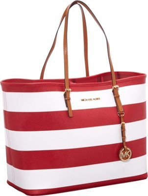 Michael Kors Jet Set travel strip tote in red and white nautical stripes.   328  purses  fashion  style 2f53053e8f